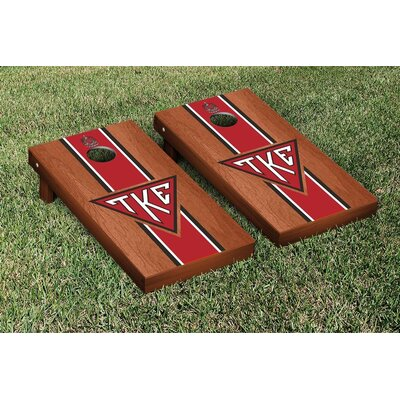 NCAA Tau Kappa Epsilon Stained Cornhole Game Set WFVT-31656