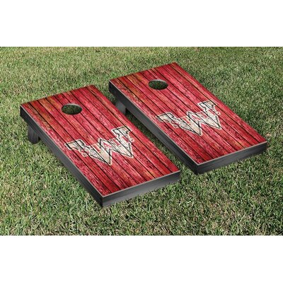 NCAA Weathered Version Cornhole Game Set NCAA Team: College Vault Washington State Cougars WFVT-849088