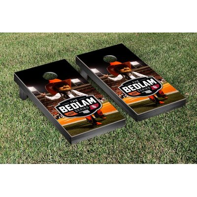 NCAA Bedlam Series Rivalry Version Cornhole Game Set NCAA Team: Oklahoma State Cowboys WFVT-443087