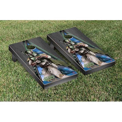 Star Wars Boba Fett Onyx Stained Triangle Version Cornhole Game Set WFVT-830945