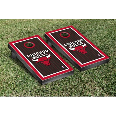 NBA Border Version Cornhole 10 Piece Game Set NBA Team: Chicago Chi Bulls VT28580