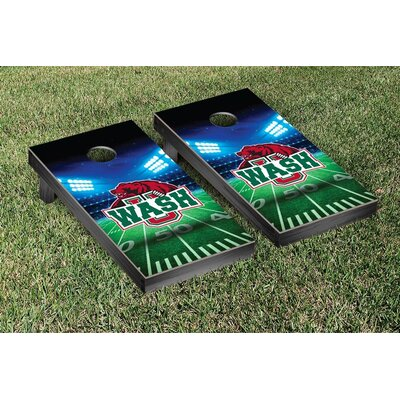 NCAA Stadium Wooden Cornhole Game Set NCAA Team: Washington University in St. Louis WUSTL Bears WFVT-226518