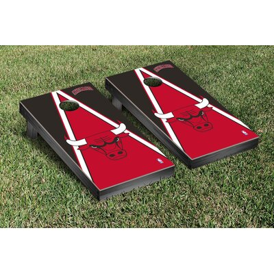 NBA Triangle Version Cornhole Game Set NBA Team: Chicago Chi Bulls VT28582