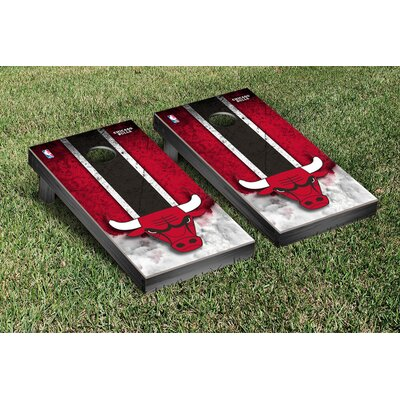 NBA Vintage Version Cornhole Game Set NBA Team: Chicago Chi Bulls VT28583