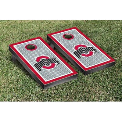 NCAA Ohio State OSU Buckeyes Border Buckeye Leaves Version Cornhole Game Set WFVT-29894