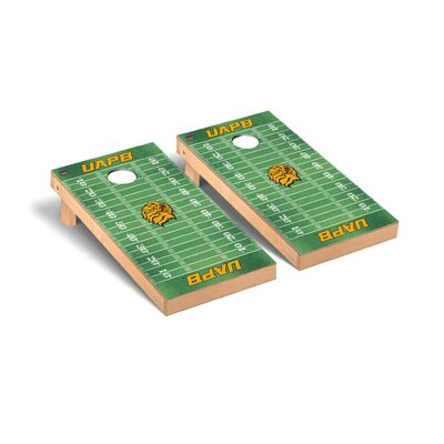 NCAA Football Field Version Cornhole Game Set NCAA Team: Arkansas Pine Bluff UAPB Golden Lions WFVT-101171