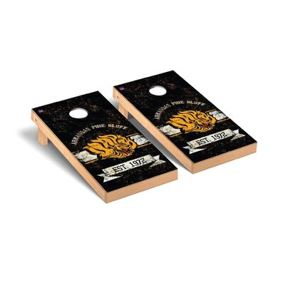 NCAA Banner Version Cornhole Game Set NCAA Team: Arkansas Pine Bluff UAPB Golden Lions WFVT-101173