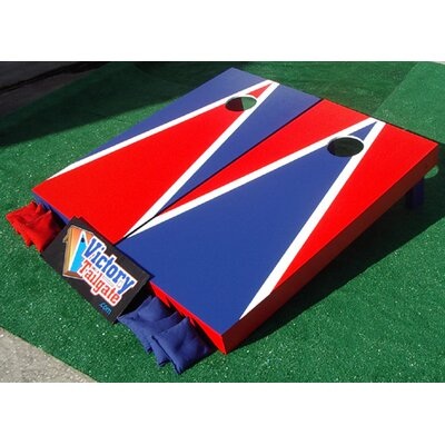 Victory Tailgate Alternating Triangle Cornhole Bean Bag Toss Game - Color: Red and Blue at Sears.com