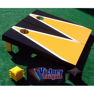 Victory Tailgate Matching Triangle Cornhole Bean Bag Toss Game - Color: Yellow Gold and Black at Sears.com
