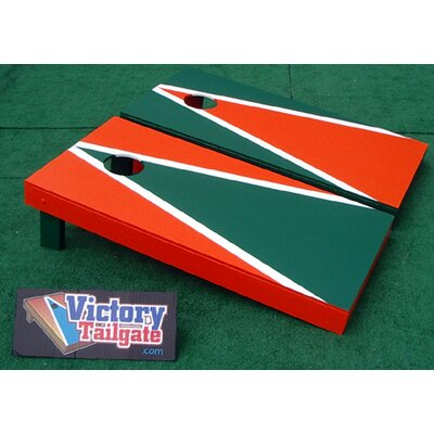 Victory Tailgate Alternating Triangle Cornhole Bean Bag Toss Game - Color: Orange and Green at Sears.com