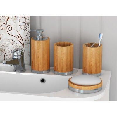 Joss & Main Essentials 4 Piece Bathroom Accessory Set