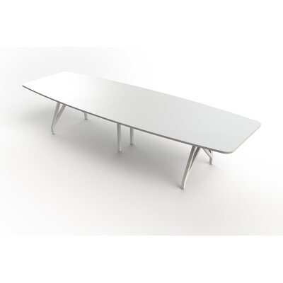 Kayak Boat Shaped 30H x 38W x 120L Conference Table Top Finish: White, Size: 12 L