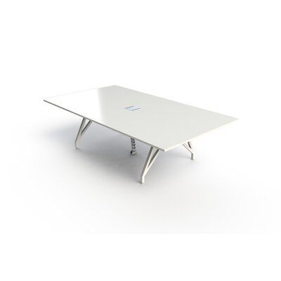 EYHOV Conference Rectangular 30H x 60W x 108L Conference Table Finish: White Gloss
