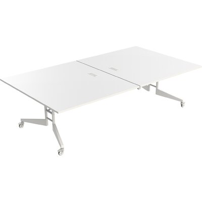 Nomad Rectangular 30H x 60W x 108L Conference Table Finish: White Matte