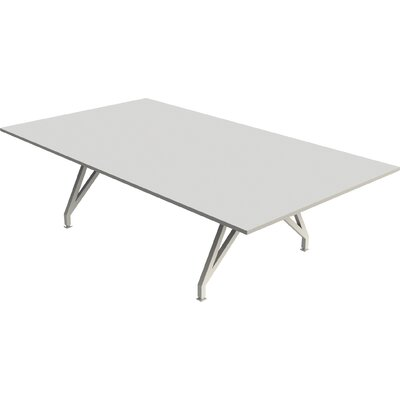 EYHOV Conference 9 Rectangular Conference Table Finish: White