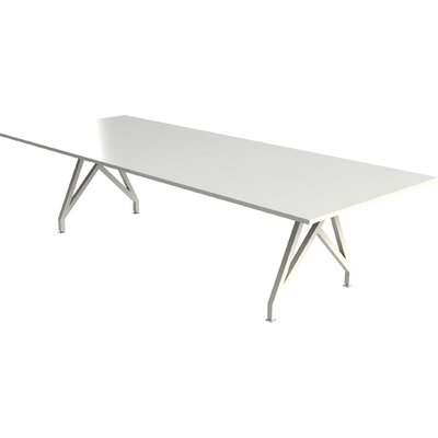 Think Tank Rectangular Conference Table Top Finish: Gloss White, Size: 12 L