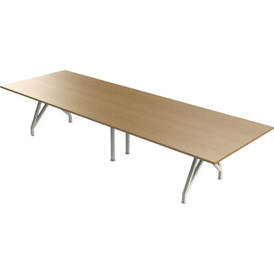 Think Tank Rectangular Conference Table Top Finish: Maple, Size: 12 L