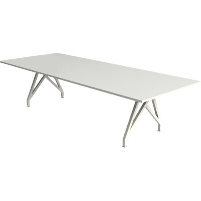 Think Tank Rectangular Conference Table Finish: Gloss White, Size: 29 H x 42 W x 120 D