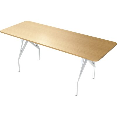 Think Tank Hot Spot 8 Rectangular Conference Table Top Finish: Maple