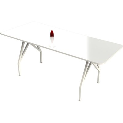 Think Tank Hot Spot 8 Rectangular Conference Table Top Finish: White Gloss