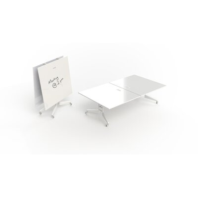 Nomad Rectangular 30H x 60W x 108L Conference Table Finish: White Dry Erase