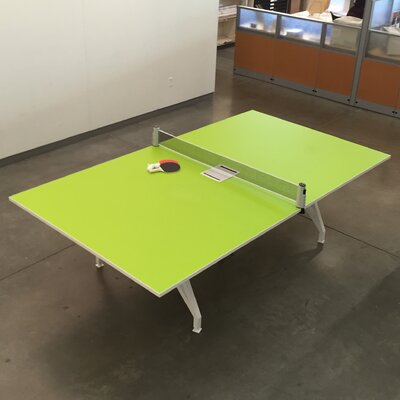 EYHOV Conference 9 Rectangular Conference Table Finish: Scale Green