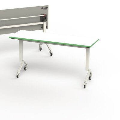60 W Training Table Edge Finish: Green, Size: 6 L