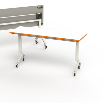 60 W Training Table Edge Finish: Tangerine, Size: 6 L