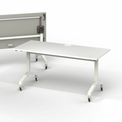 60 W Training Table Edge Finish: White, Size: 6 L