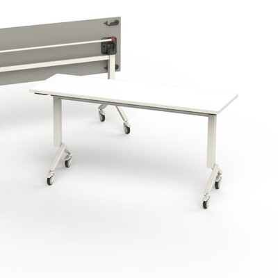 60 W Flip Top Training Table Edge Finish: White