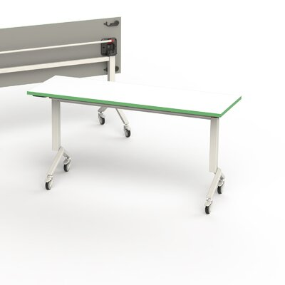 60 W Flip Top Training Table Edge Finish: Green