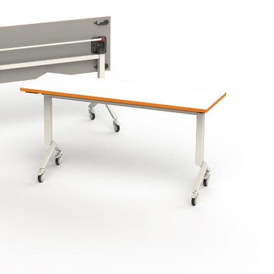 60 W Flip Top Training Table Edge Finish: Tangerine