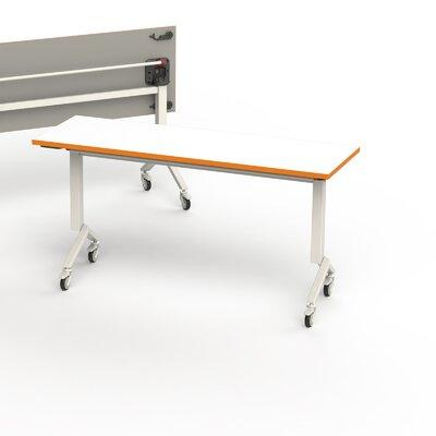 60 W Flip Top Training Table Edge Finish: Tangerine