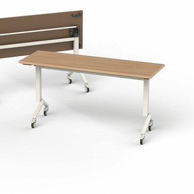 60 W Flip Top Training Table Finish: Brazil Wood