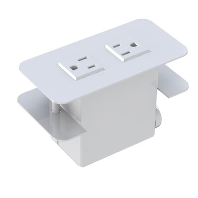Surface Mounted 2 Power Outlet Cover
