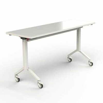 60 W Flip Top Training Table Finish: White