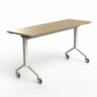 60 W Flip Top Training Table Finish: Maple
