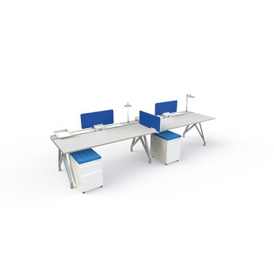 Eyhov Front 14 H x 31 W Desk Privacy Panel Finish: Blue