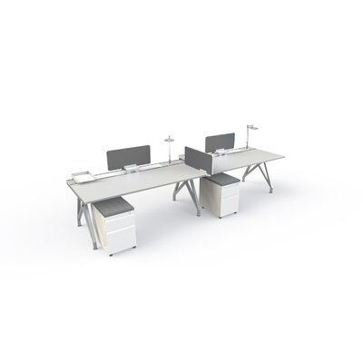 Eyhov Front 14 H x 31 W Desk Privacy Panel Finish: Gray