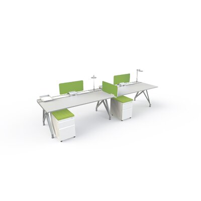 Eyhov Front 14 H x 31 W Desk Privacy Panel Finish: Green