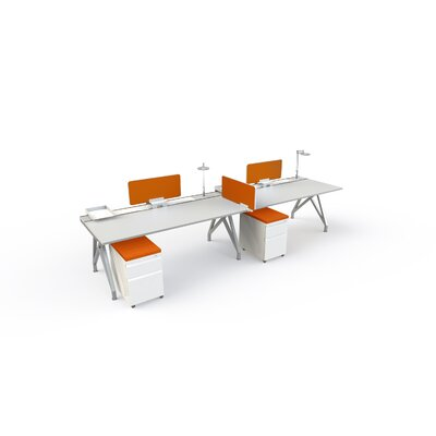 14 H x 2 W Desk Privacy Panel Finish: Tangerine