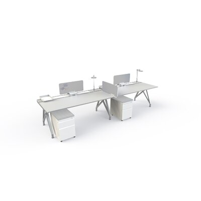 Eyhov Front 14 H x 31 W Desk Privacy Panel Finish: White