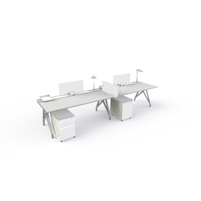 14 H x 2 W Desk Privacy Panel Finish: White