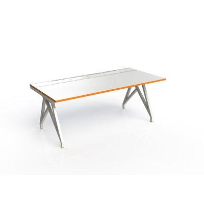 Eyhov Rail Single Open Workstation Finish: Matte White/Tangerine