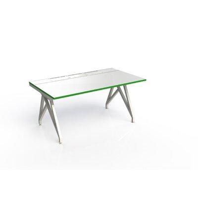 Eyhov Rail Single Open Workstation Finish: Matte White/Scale Green