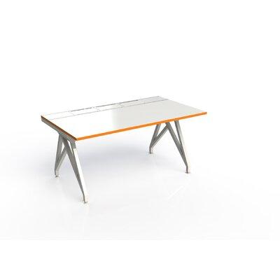 Eyhov Rail Single Open Workstation Finish: White Gloss/Tangerine