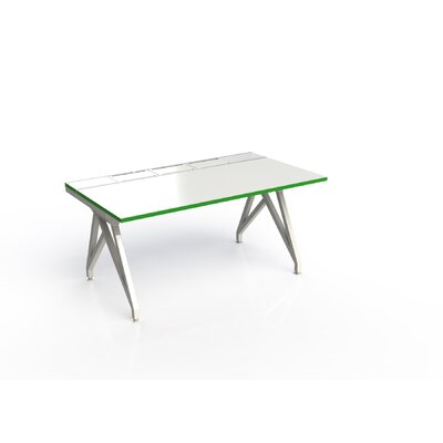 Eyhov Rail Single Open Workstation Finish: White Gloss/Scale Green