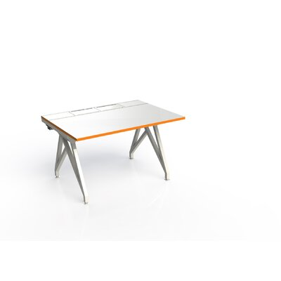 Eyhov Rail Single Open Workstation Finish: Matte White/Tangerine