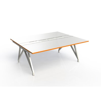 Eyhov Rail Double Open Workstation Finish: Matte White/Tangerine