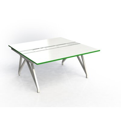 Eyhov Rail Double Open Workstation Finish: White Gloss/Scale Green